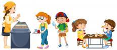 Enfants a la cantine
